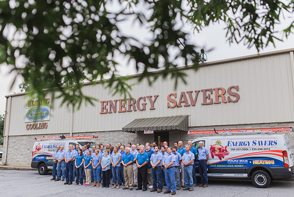 Energy Savers of Georgia Team with trucks