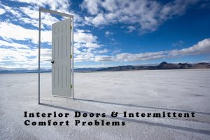 Comfort problems can be caused by Interior doors